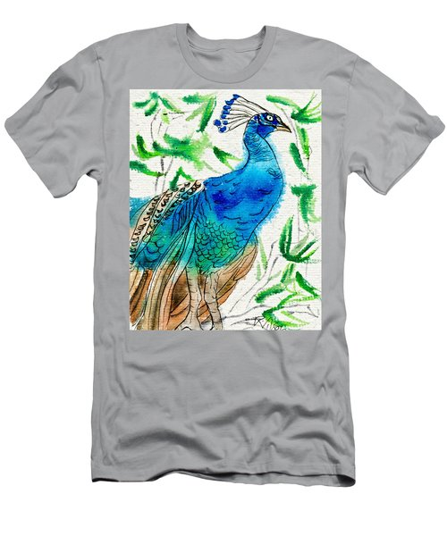 Perched Peacock I Men's T-Shirt (Athletic Fit)