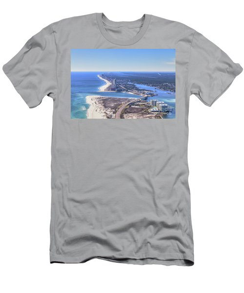 Men's T-Shirt (Athletic Fit) featuring the photograph Perdido Pass Bridge 4319 by Gulf Coast Aerials
