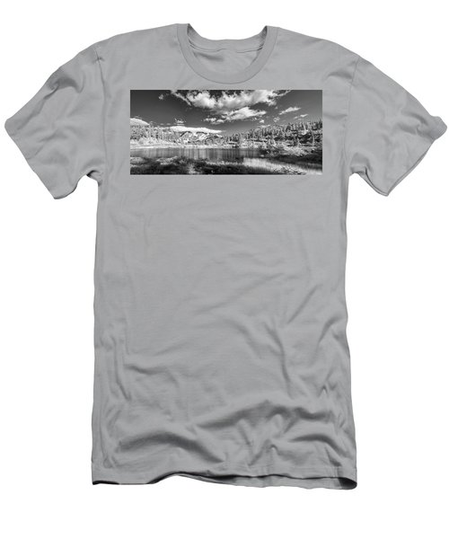 Men's T-Shirt (Slim Fit) featuring the photograph Perfect Lake At Mount Baker by Jon Glaser