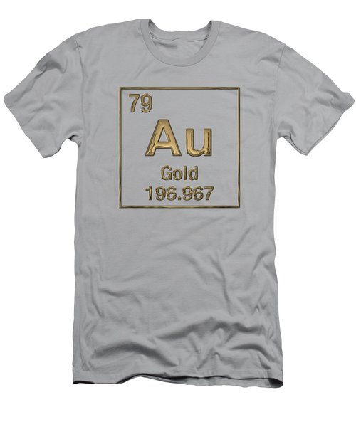 Periodic Table Of Elements - Gold - Au Men's T-Shirt (Athletic Fit)