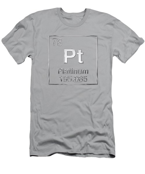 Periodic Table Of Elements - Platinum - Pt Men's T-Shirt (Athletic Fit)