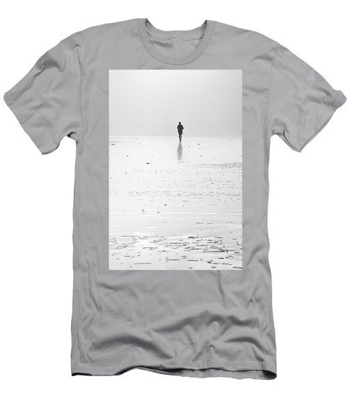 Person Running On Beach Men's T-Shirt (Athletic Fit)