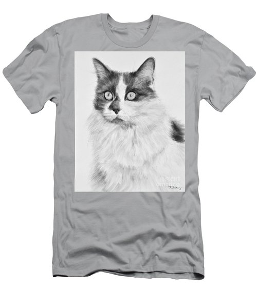 Pet Cat Drawing Olivia Men's T-Shirt (Athletic Fit)