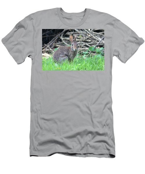 Men's T-Shirt (Athletic Fit) featuring the photograph Peter Rabbit by Trina Ansel