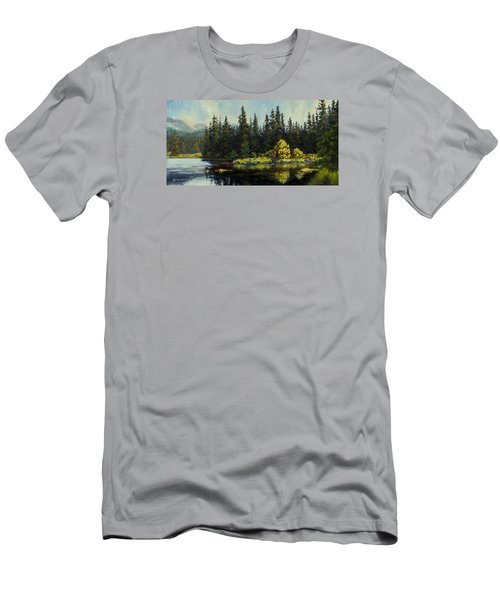 Peterson Lake Men's T-Shirt (Slim Fit) by Kurt Jacobson