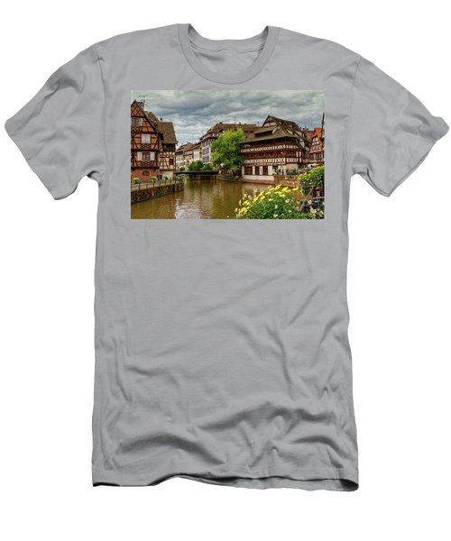 Petite France, Strasbourg Men's T-Shirt (Slim Fit) by Elenarts - Elena Duvernay photo