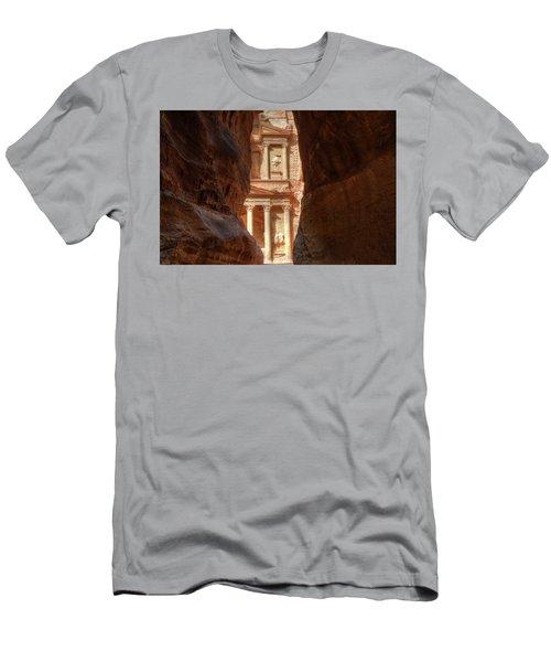 Petra Treasury Revealed Men's T-Shirt (Slim Fit) by Nigel Fletcher-Jones