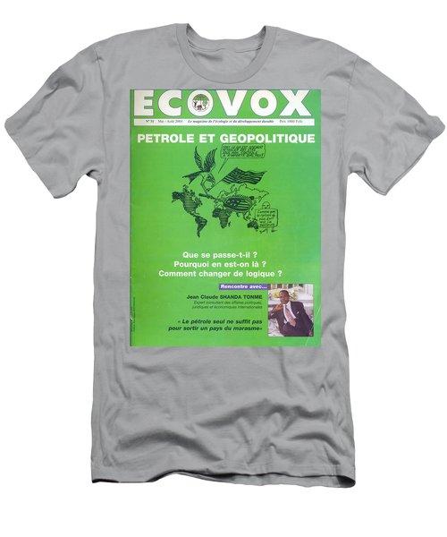 Men's T-Shirt (Slim Fit) featuring the painting Petrole Et Geopolitique by Emmanuel Baliyanga