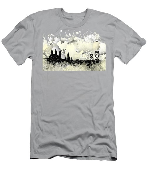Philadelphia Skyline. Men's T-Shirt (Athletic Fit)