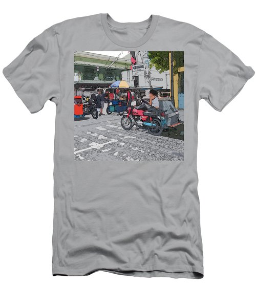 Philippines 673 Street Food Men's T-Shirt (Athletic Fit)