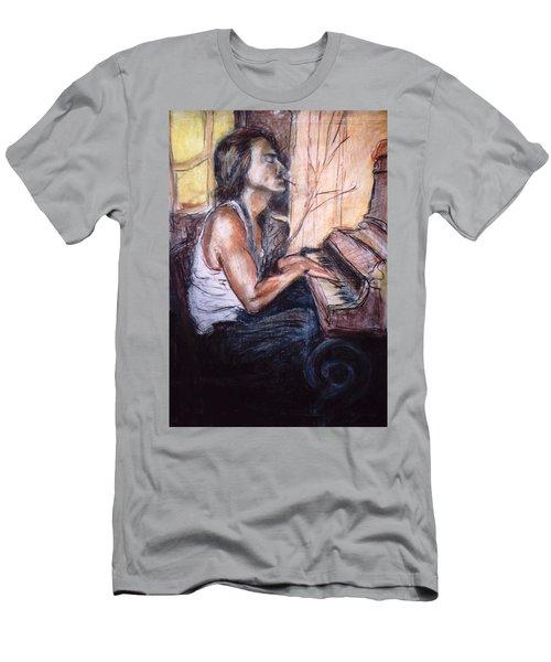 Piano Man Men's T-Shirt (Athletic Fit)