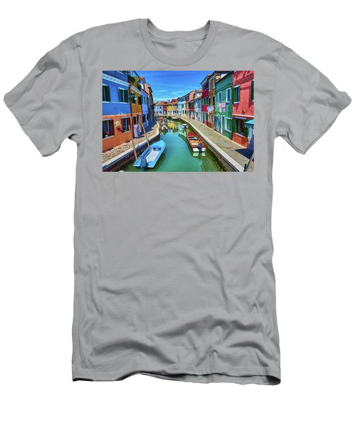 Picturesque Buildings And Boats In Burano Men's T-Shirt (Athletic Fit)