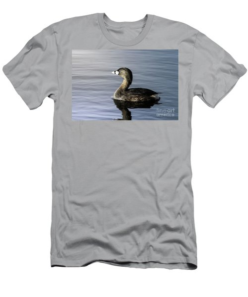 Men's T-Shirt (Slim Fit) featuring the photograph Pied-billed Grebe by Robert Frederick