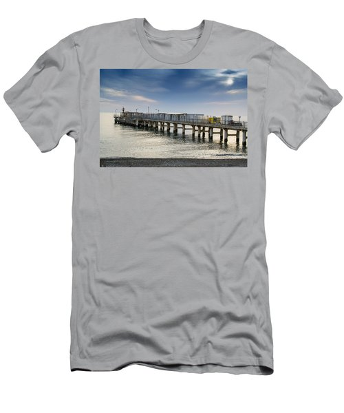 Pier At Sunset Men's T-Shirt (Slim Fit) by John Williams