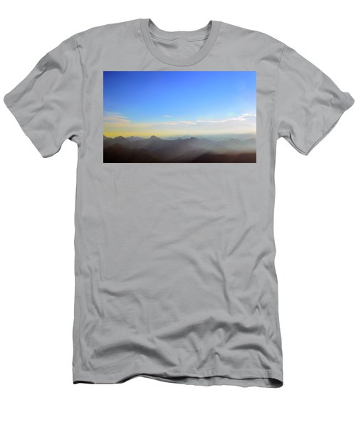 Pilchuck And Three Sisters Sunrise Men's T-Shirt (Athletic Fit)