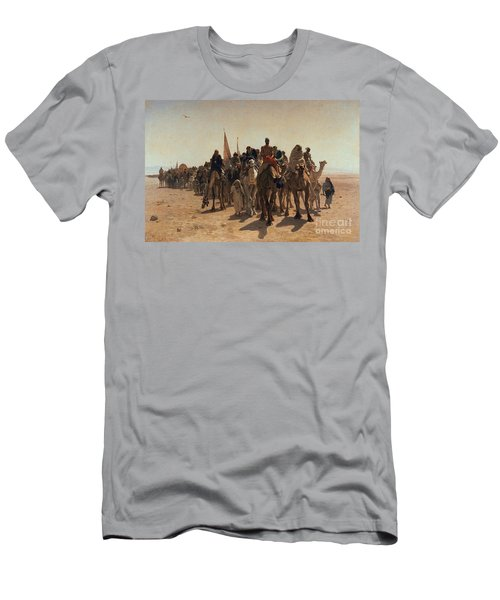 Pilgrims Going To Mecca Men's T-Shirt (Athletic Fit)
