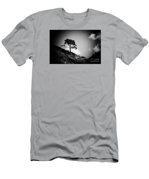 Pine At Sky Background Artmif.lv Men's T-Shirt (Athletic Fit)