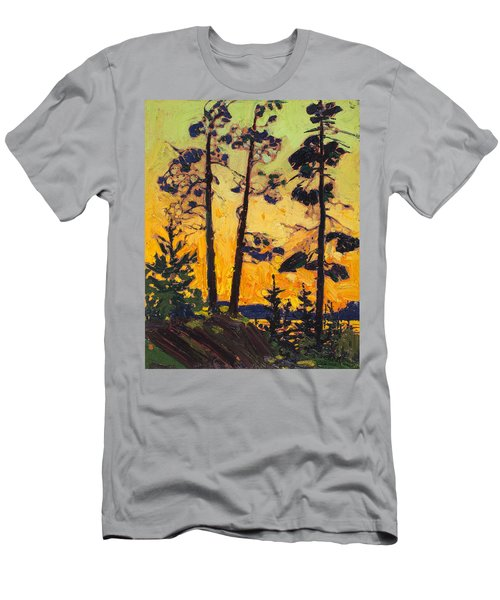 Pine Trees At Sunset Men's T-Shirt (Athletic Fit)