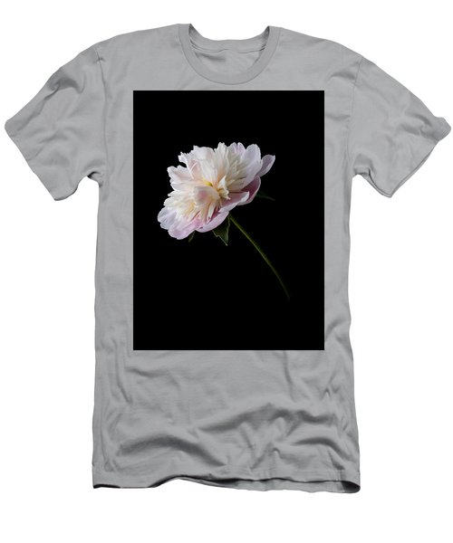 Pink And White Peony Men's T-Shirt (Athletic Fit)