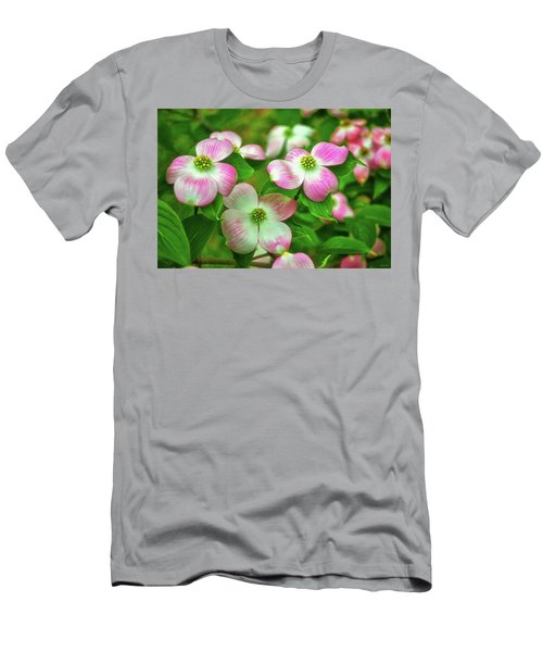Pink Dogwoods 003 Men's T-Shirt (Slim Fit) by George Bostian