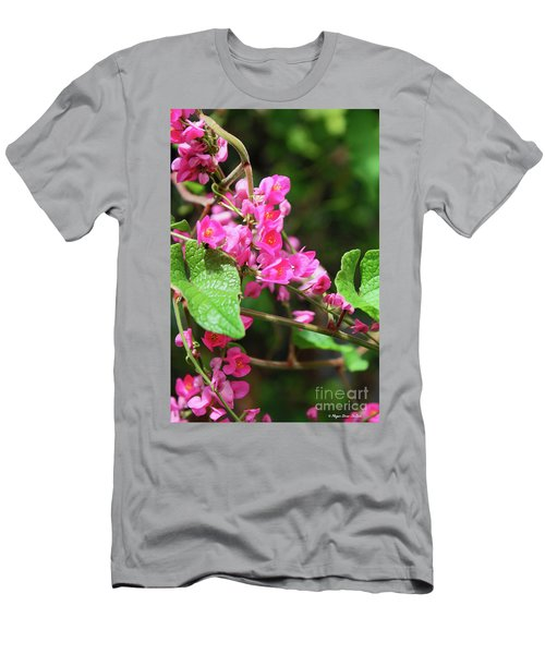 Pink Flowering Vine3 Men's T-Shirt (Athletic Fit)