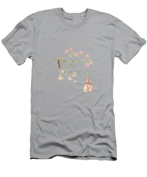 Pink Flowers With Caterpillar By Cornelis Markee 1763 Men's T-Shirt (Athletic Fit)