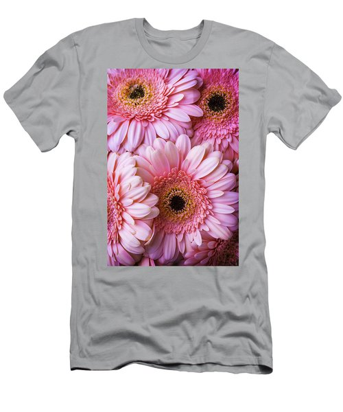 Pink Gerbera Daisy Bunch Men's T-Shirt (Athletic Fit)