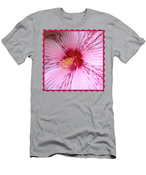 Pink Hibiscus Macro Men's T-Shirt (Athletic Fit)
