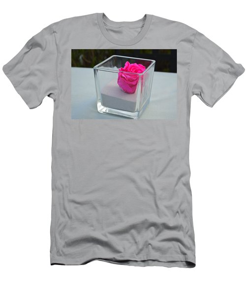 Pink Rose In Venice Men's T-Shirt (Athletic Fit)