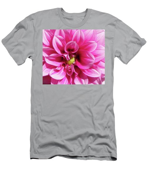 Pink Summer Flower Macro Men's T-Shirt (Athletic Fit)