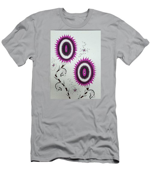 Pink Sunflowers Men's T-Shirt (Athletic Fit)