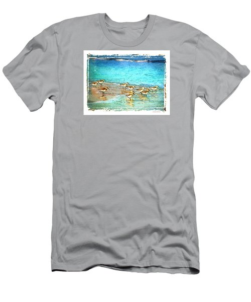Pipers Run Men's T-Shirt (Slim Fit) by Linda Olsen