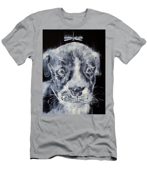 Pit Bull Cub And Dragonfly Men's T-Shirt (Athletic Fit)