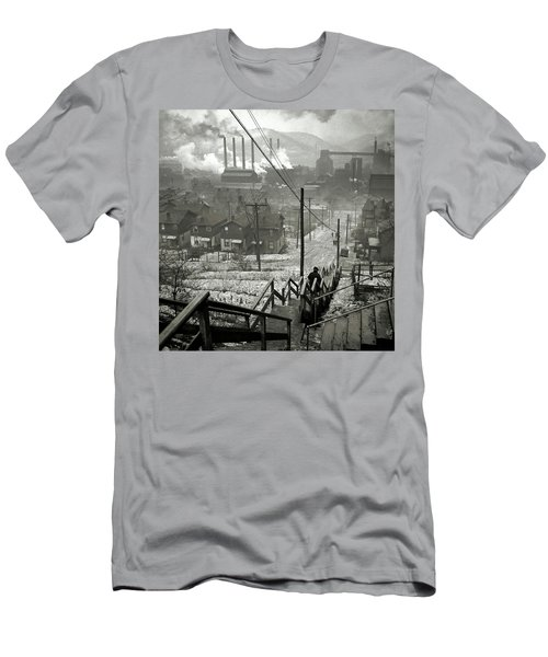 Pittsburgh Mill District  1940 Men's T-Shirt (Athletic Fit)