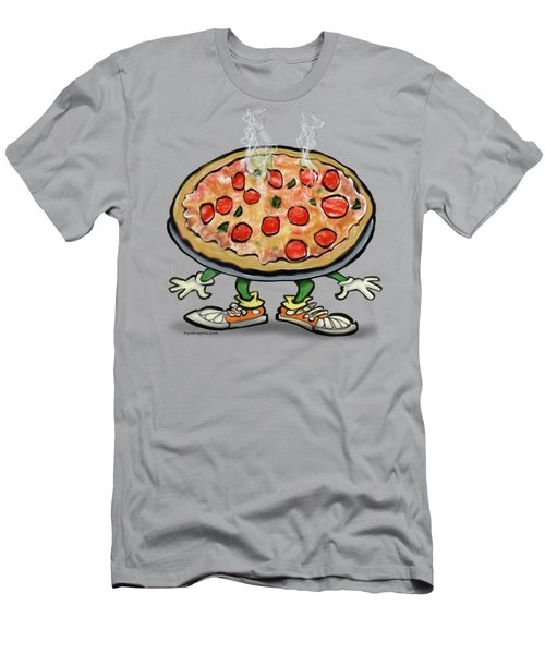 Pizza Men's T-Shirt (Slim Fit) by Kevin Middleton