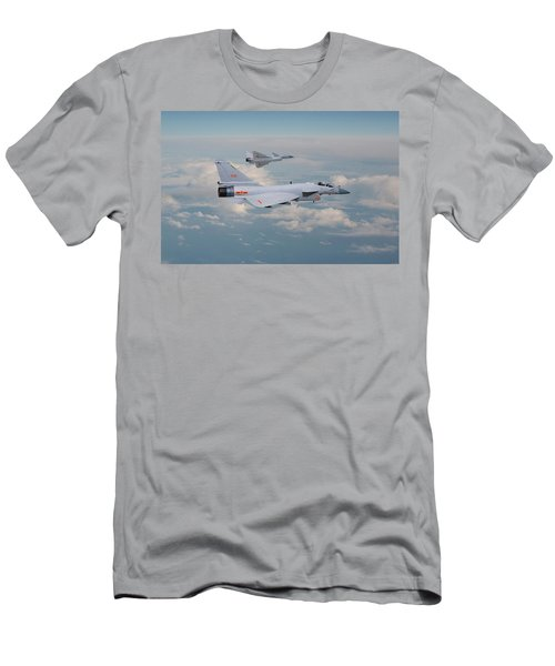 Men's T-Shirt (Slim Fit) featuring the photograph Plaaf J10 - Vigorous Dragon by Pat Speirs