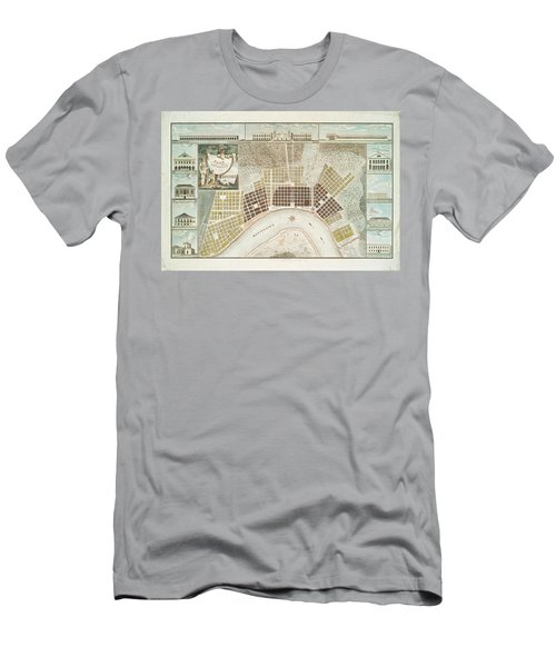 Plan Of The City And Suburbs Of New Orleans 1817 Men's T-Shirt (Athletic Fit)