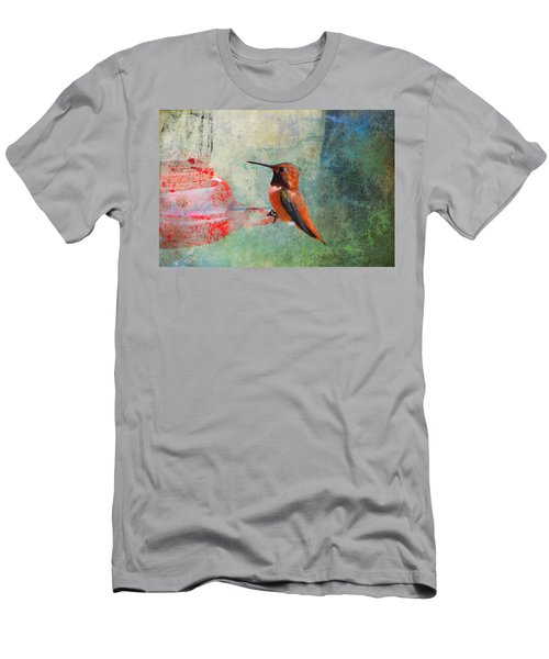 Plate 048 - Hummingbird Grunge Series Men's T-Shirt (Athletic Fit)