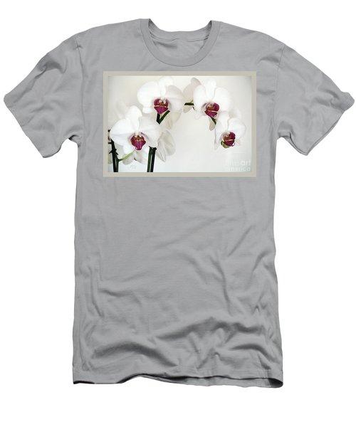 Platnum Beauty Orchids Men's T-Shirt (Slim Fit) by Marsha Heiken