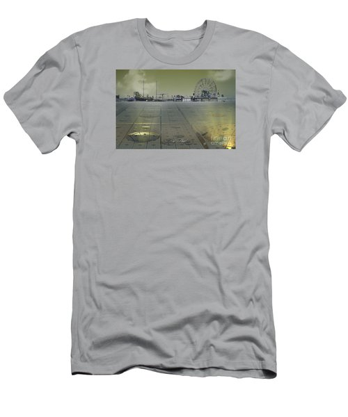 Men's T-Shirt (Slim Fit) featuring the digital art Playground On Planet X by Melissa Messick