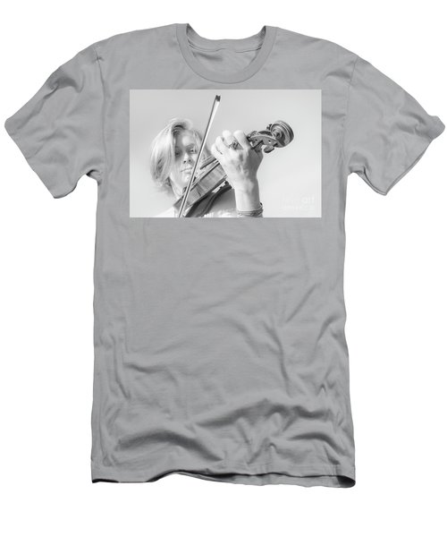 Men's T-Shirt (Slim Fit) featuring the photograph Playing Me Softly by Bob Christopher
