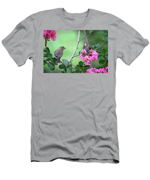 Men's T-Shirt (Athletic Fit) featuring the photograph Please, May I Have Some? by Trina Ansel