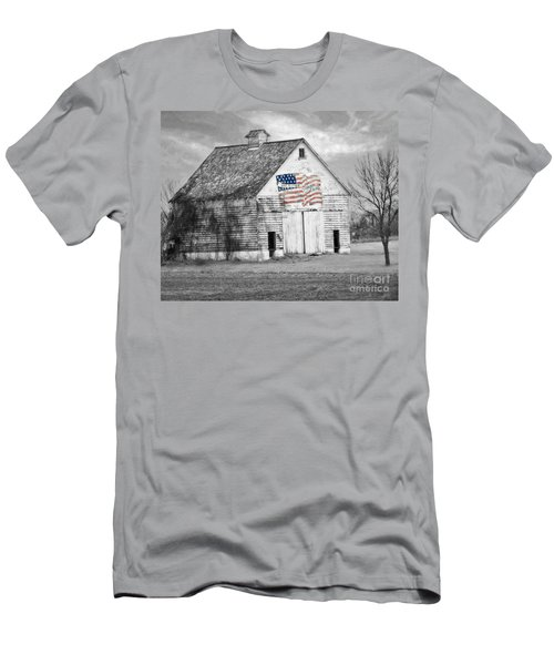Pledge Of Allegiance Crib Men's T-Shirt (Slim Fit) by Kathy M Krause