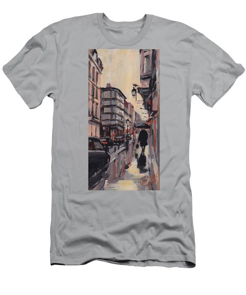 Pluie Rue De Regence Liege Men's T-Shirt (Athletic Fit)