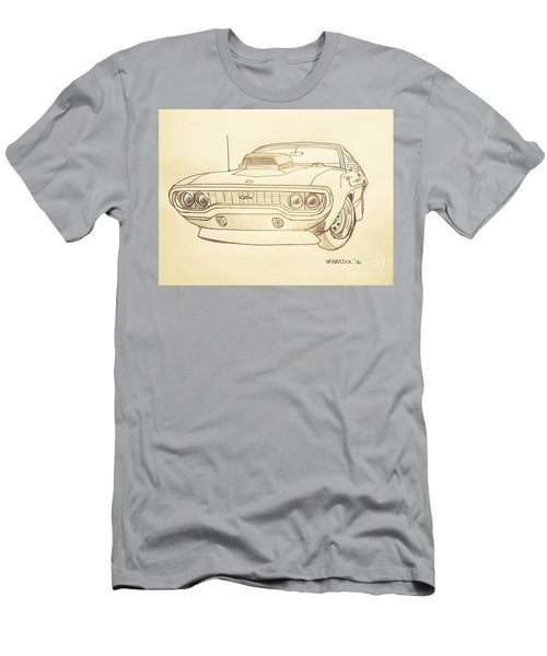 Plymouth Gtx American Muscle Car - Antique  Men's T-Shirt (Athletic Fit)
