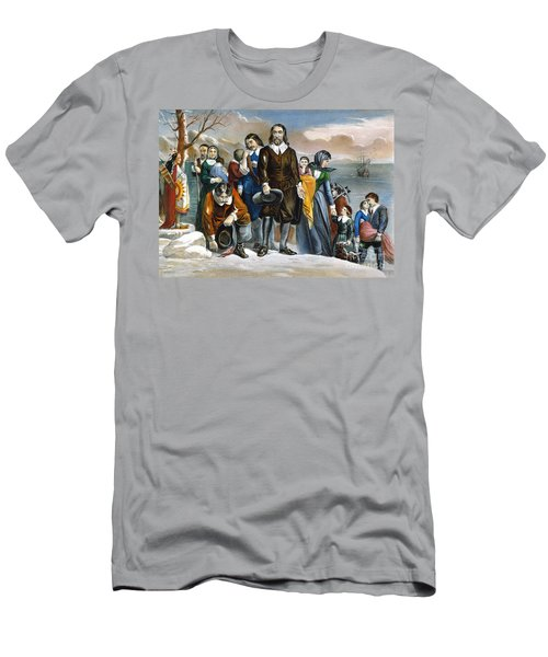 Plymouth Rock, 1620 Men's T-Shirt (Athletic Fit)