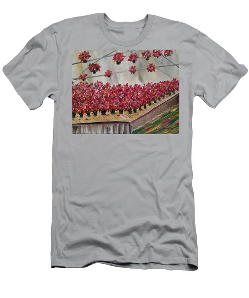 Poinsettia Greenhouse Men's T-Shirt (Athletic Fit)