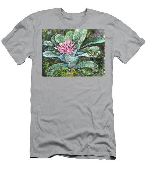 Poison Dart Frog On Bromeliad Men's T-Shirt (Athletic Fit)
