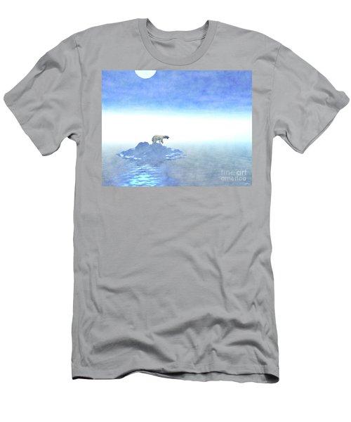 Men's T-Shirt (Slim Fit) featuring the digital art Polar Bear On Iceberg by Phil Perkins