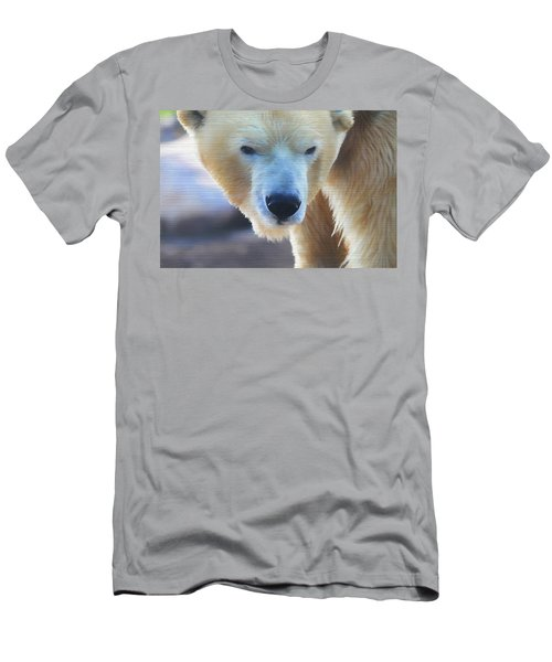 Polar Bear Wooden Texture Men's T-Shirt (Slim Fit) by Dan Sproul